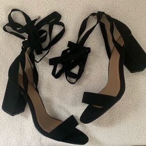EUC ASOS ankle tie heels